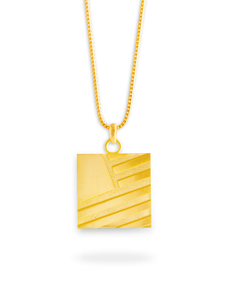 Square Flag Chain / Gold