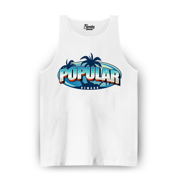 Venice Beach Postcard Tank / White