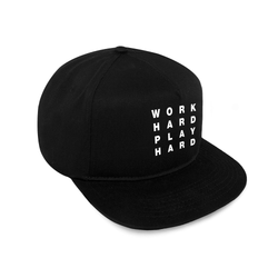 Work Hard Snapback / Black