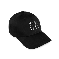 Work Hard Dad Hat / Black