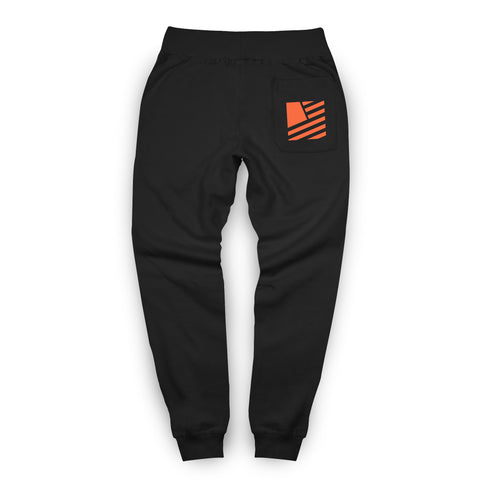 Popular Script Joggers / Black & Orange