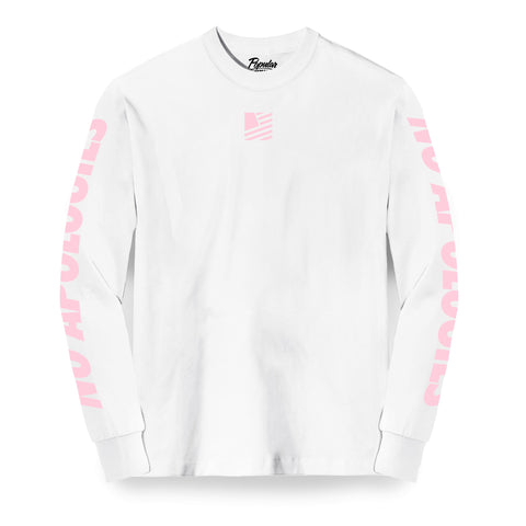 SFNA Long Sleeve / White & Pink