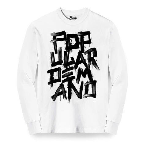 Brush Strokes Long Sleeve / White & Black