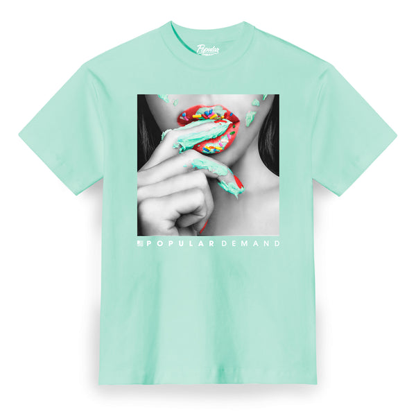 Frosted Lips Tee / Mint
