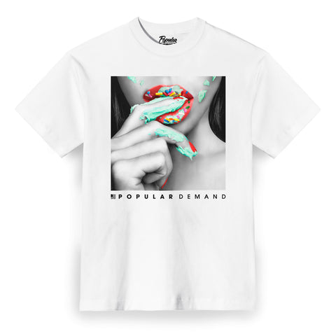 Frosted Lips Tee / White