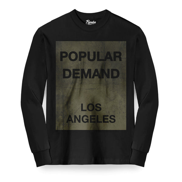 Box Distressed Long Sleeve / Black