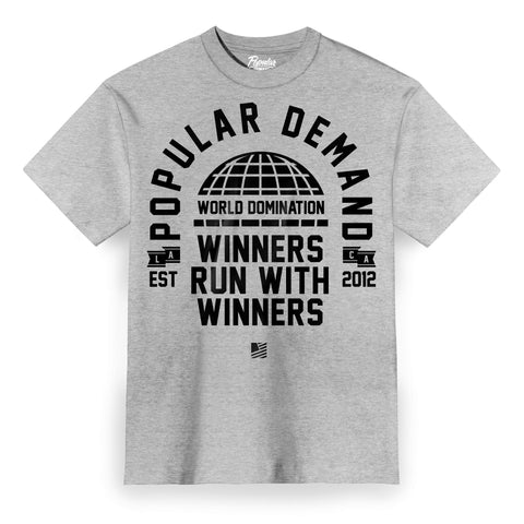 World Domination Tee / Athletic Heather