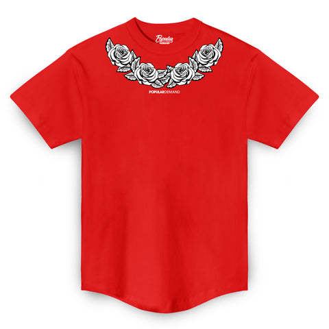 Rose Wreath Tee / Red