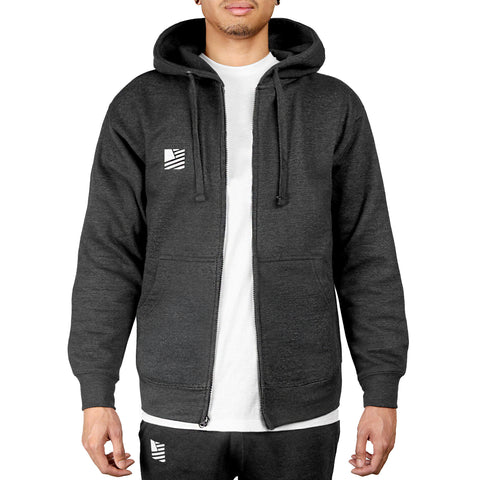 PD Basics Zip-Up Hoodie / Charcoal