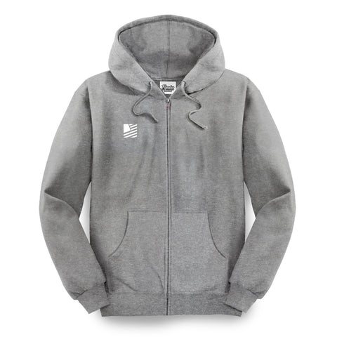 PD Basics Zip-Up Hoodie / Athletic Heather
