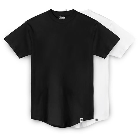 PD Basics Extended Scoop Tees / 2 Pack