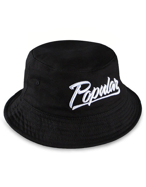 Popular Script Bucket / Black