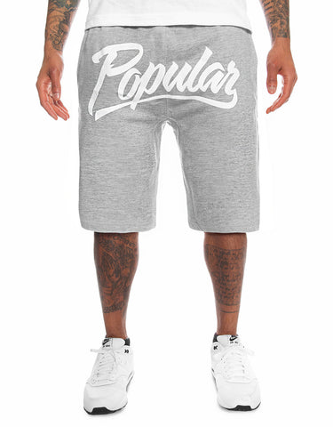 Popular Script Sweatshorts / Athletic Heather