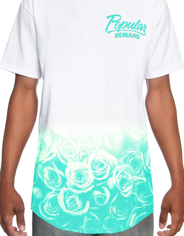 Rose Fade Scoop Tee / Mint