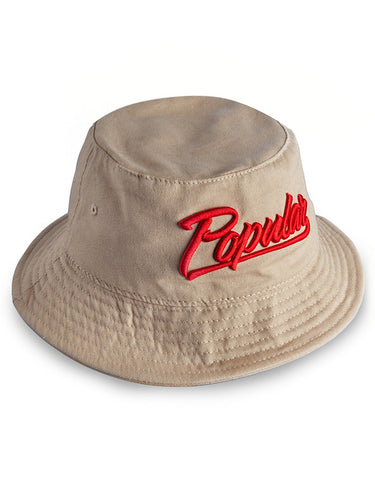 Popular Script Bucket / Khaki