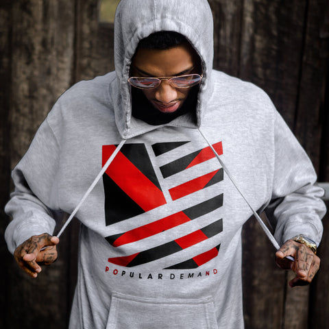 Medieval Square Flag Hoodie / Athletic Heather