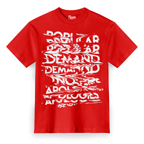 Glitch No Apologies Tee / Red