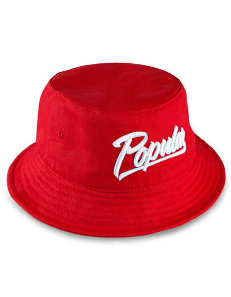 Popular Script Bucket / Red & White