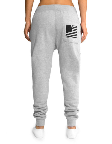 Women's Popular Script Joggers / Heather & Black