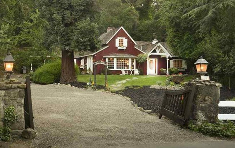 1941 Farm style house in Danville California with red siding and classic exterior charm