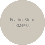 Kelly-Moore Paint KM4578 Feather Stone is a medium tone creamy brown. Interior and exterior rated.