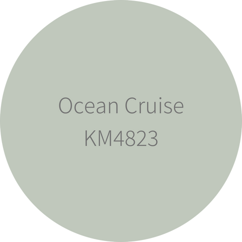 KM4823 Ocean Cruise is a neutral green for cabinets and walls