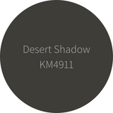 Kelly-Moore Paint KM4911 Desert Shadow is a dark toned black gray. Interior and exterior rated.