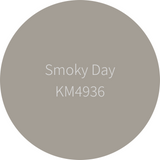 Kelly-Moore Paint KM4936 Smoky Day is a medium beige gray color. Interior and exterior rated.