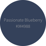 Kelly-Moore Paint KM4988 Passionate Blueberry is a deep, navy blue color. Interior and exterior rated.