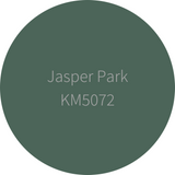 Kelly-Moore Paint KM5072 Jasper Park is a medium forest green color. Interior and exterior rated.