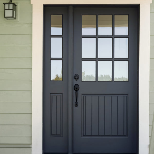Traditional green and black exterior paint colors for craftsman and arts and crafts house