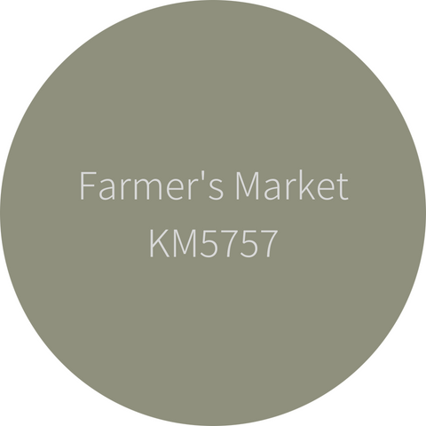 Kelly-Moore Paint KM575 Farmer's Market is a mid-tone earth green. Interior and exterior rated.
