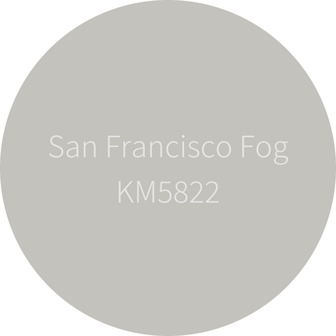 Kelly-Moore Paint KM5822 San Francisco Fog is a classic and timeless medium gray. Interior and exterior rated.