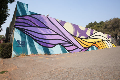 Strider Patton mural artist for home, restaurants, and art presented by Kelly-Moore paints