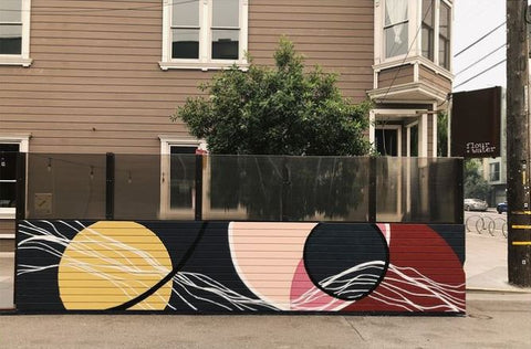 Kelly-Moore Paints Color Marketing Manager interviews San Francisco bases mural artist Strider Patton who painted the outdoor seating for Flour + Water restaurant