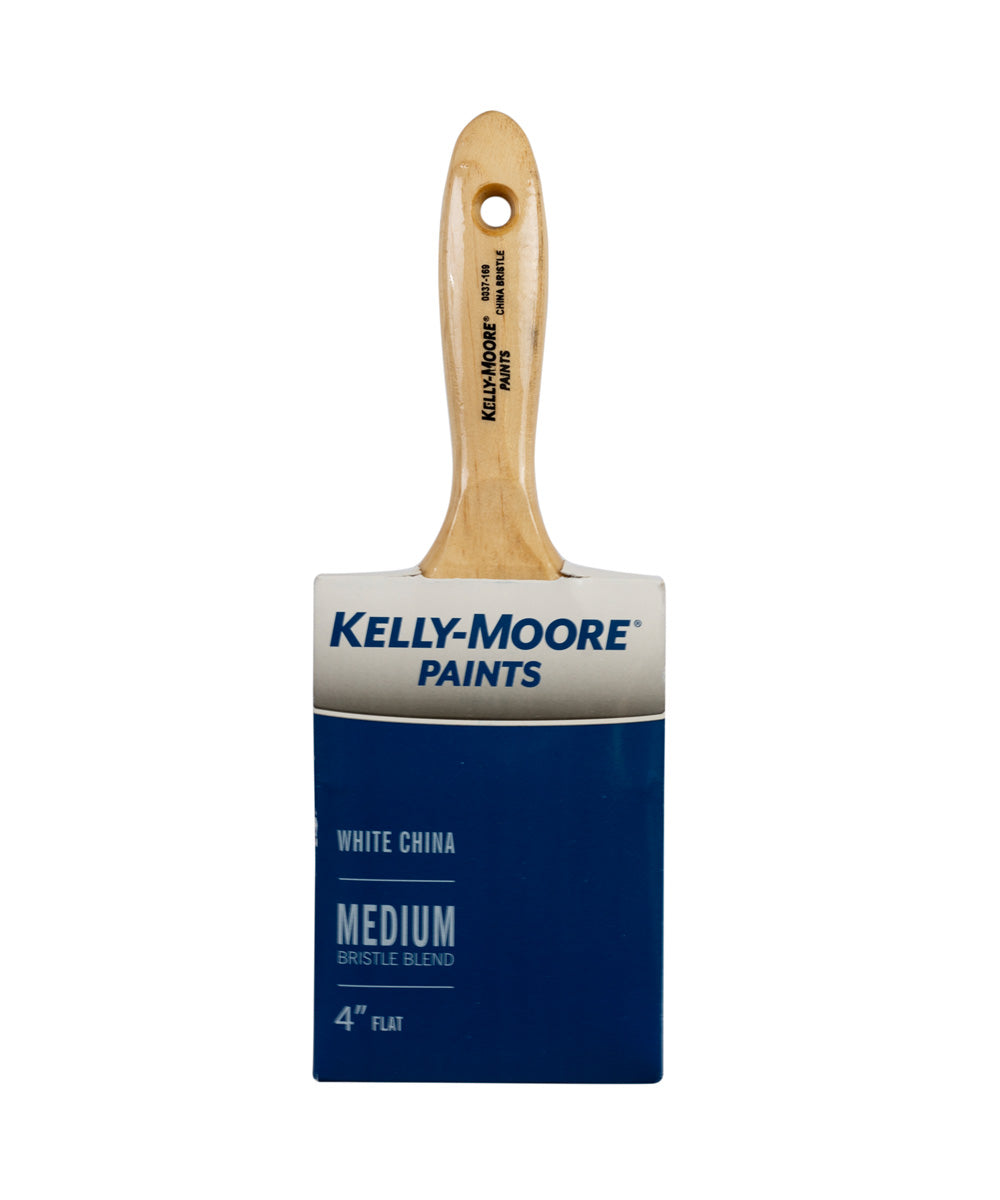 Kelly-Moore 4 Inch White China Bristle Varnish Brush