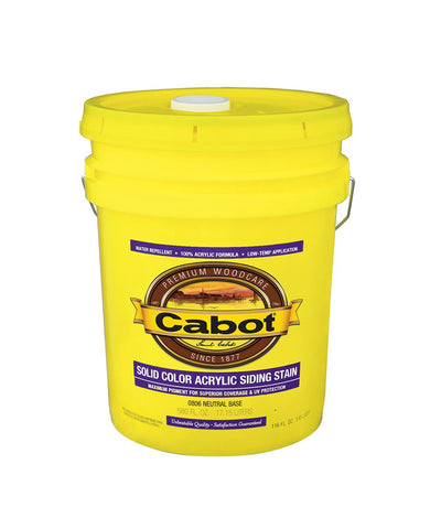 Cabot Solid Color Acrylic Siding Stain 5 Gallon Pail, available at Kelly-Moore Paints in CA, TX, NV & OK.