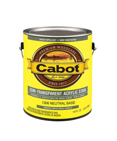 Cabot Semi Transparent Water Based Stain Gallon, available at Kelly-Moore Paints in CA, TX, NV & OK.