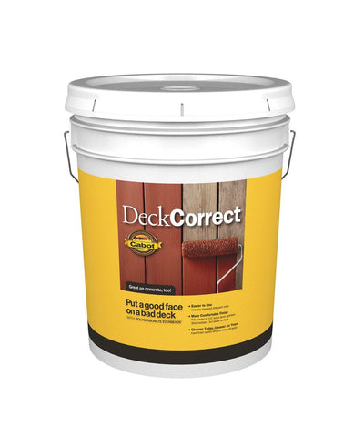 Cabot DeckCorrect 5 Gallon Pail, available at Kelly-Moore Paints in CA, TX, NV & OK.