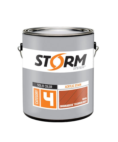 Storm Cat 4 Acrylic Stain with Enduradeck Tech, available at Kelly-Moore Paints in CA, TX, NV & OK.