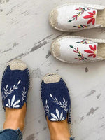 Round-toe Embroidered Slippers