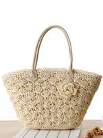 Fashion gold line exquisite shell crochet flower package