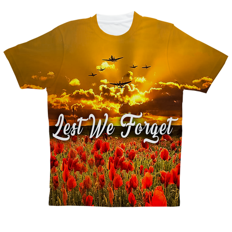 """We Will Remember Them UK"" Full Print T-Shirt"