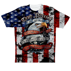 """American True Patriot"" Full Print T-Shirt"