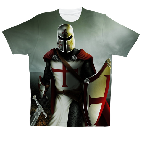 """Templar Knight"" Full Print T-Shirt"