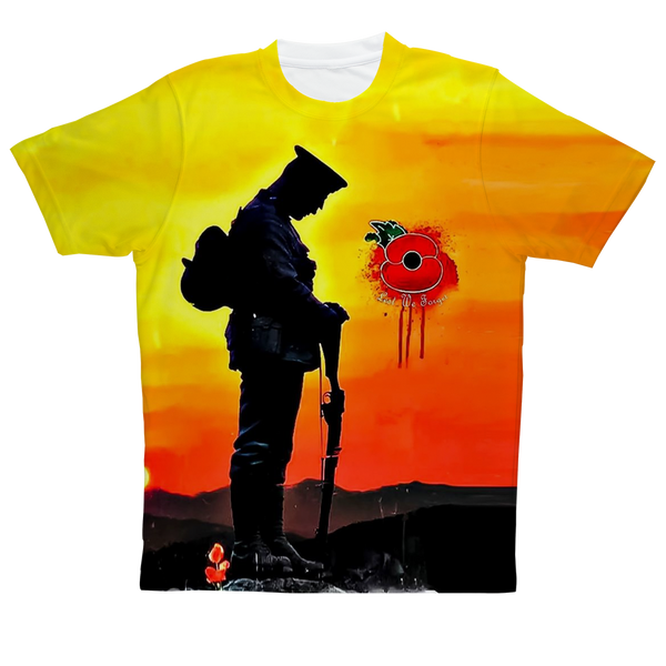"""Silhouette Soldier"" Full Print T-Shirt"