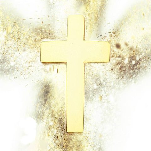 Gold Cross Lapel Badge