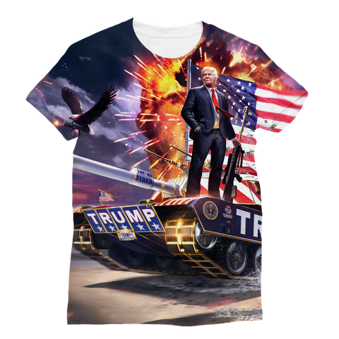 """Trump's Tank"" Women's Full Print T-Shirt"