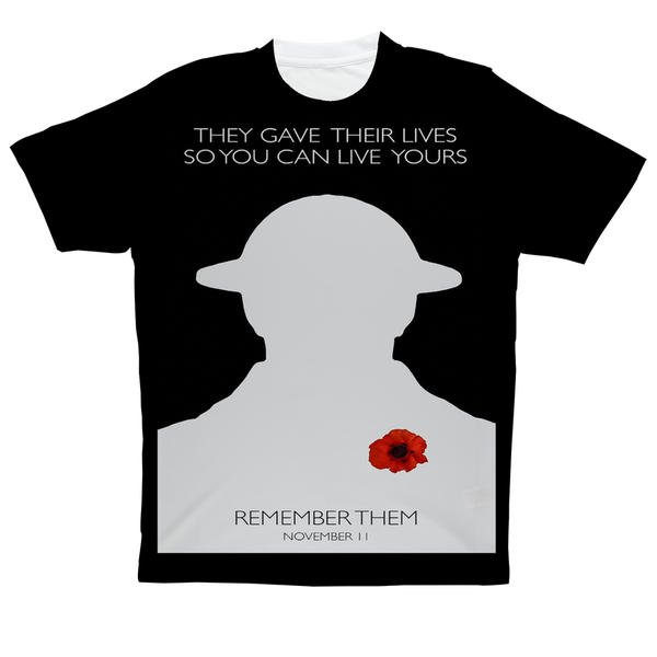 """They Gave All"" Full Print T-Shirt"