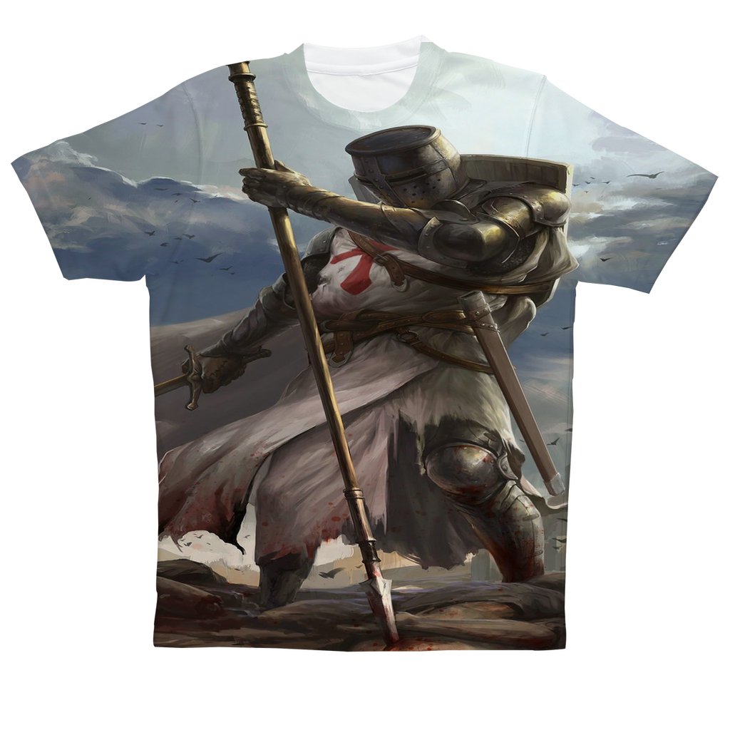 """Knight Templar"" Full Print T-Shirt"